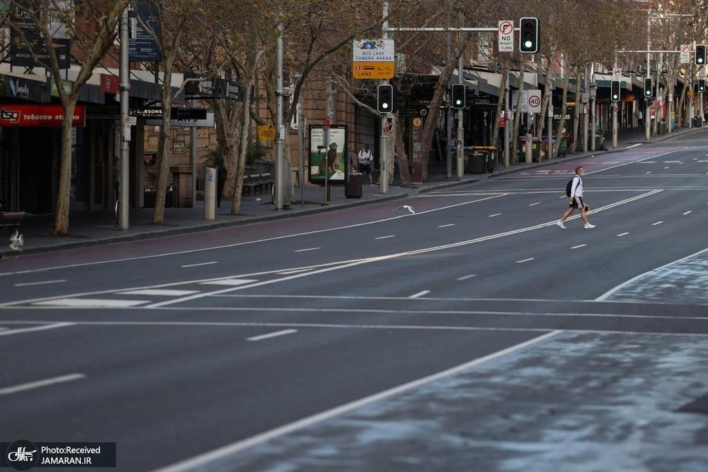 خیابان های سیدنی سوت و کور شدند+عکس