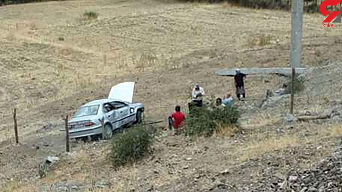 سقوط خودروی سمند به دره +عکس
