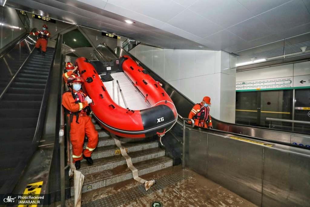 عجیب ترین صحنه در مترو دیده شد+عکس