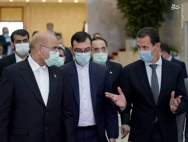 دیدار صمیمانه قالیباف با بشار اسد+عکس