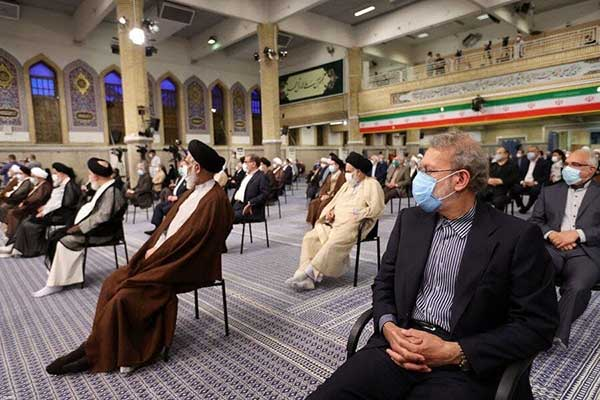 علی لاریجانی در مراسم تنفیذ حضور داشت؟+عکس